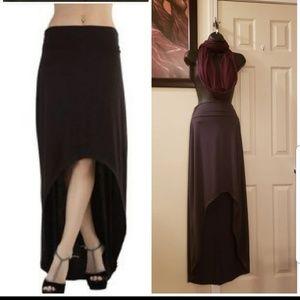Classic Woman GRAY Hi/Lo Skirt